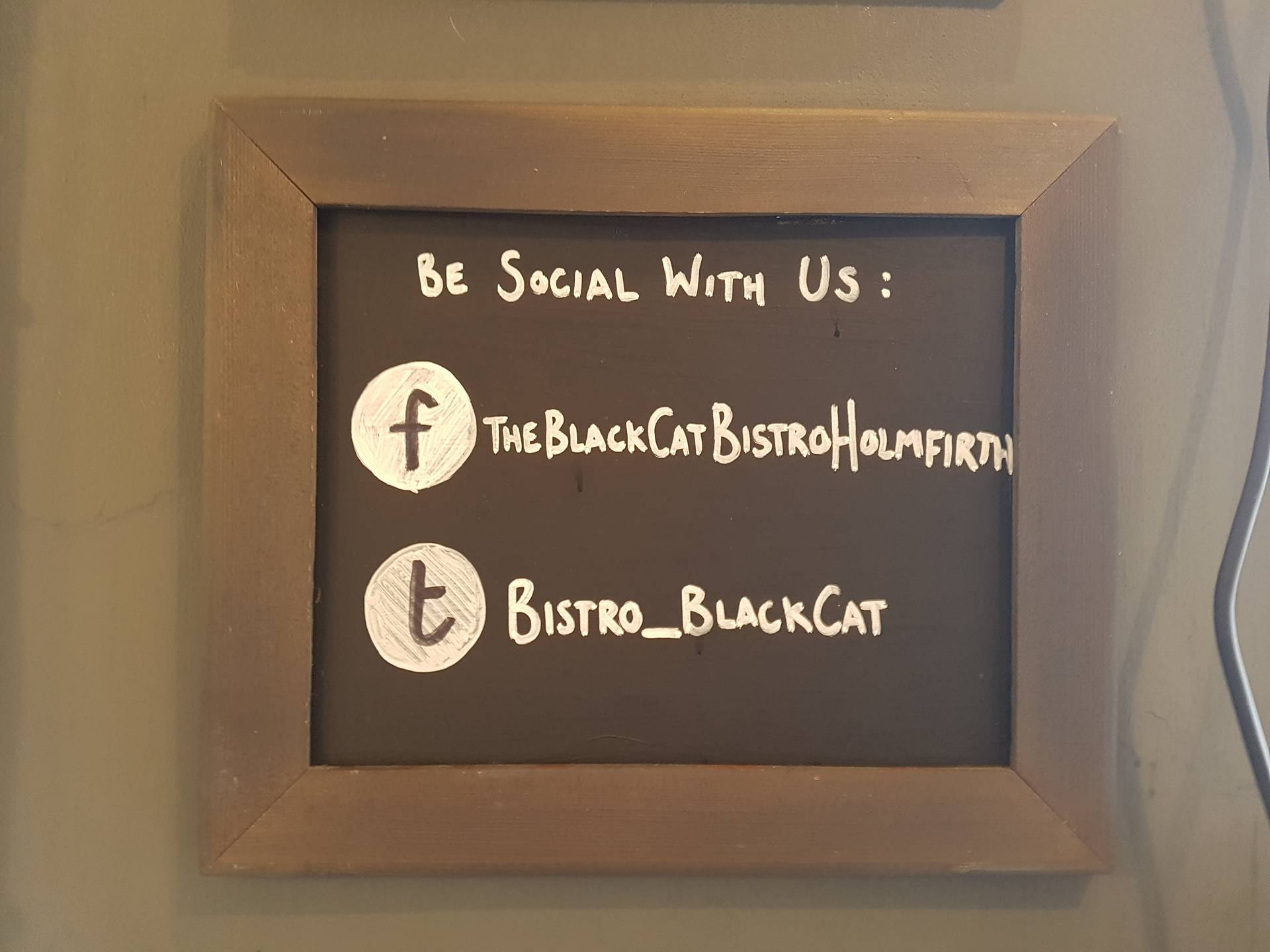 The Black Cat Bistro on Social Media