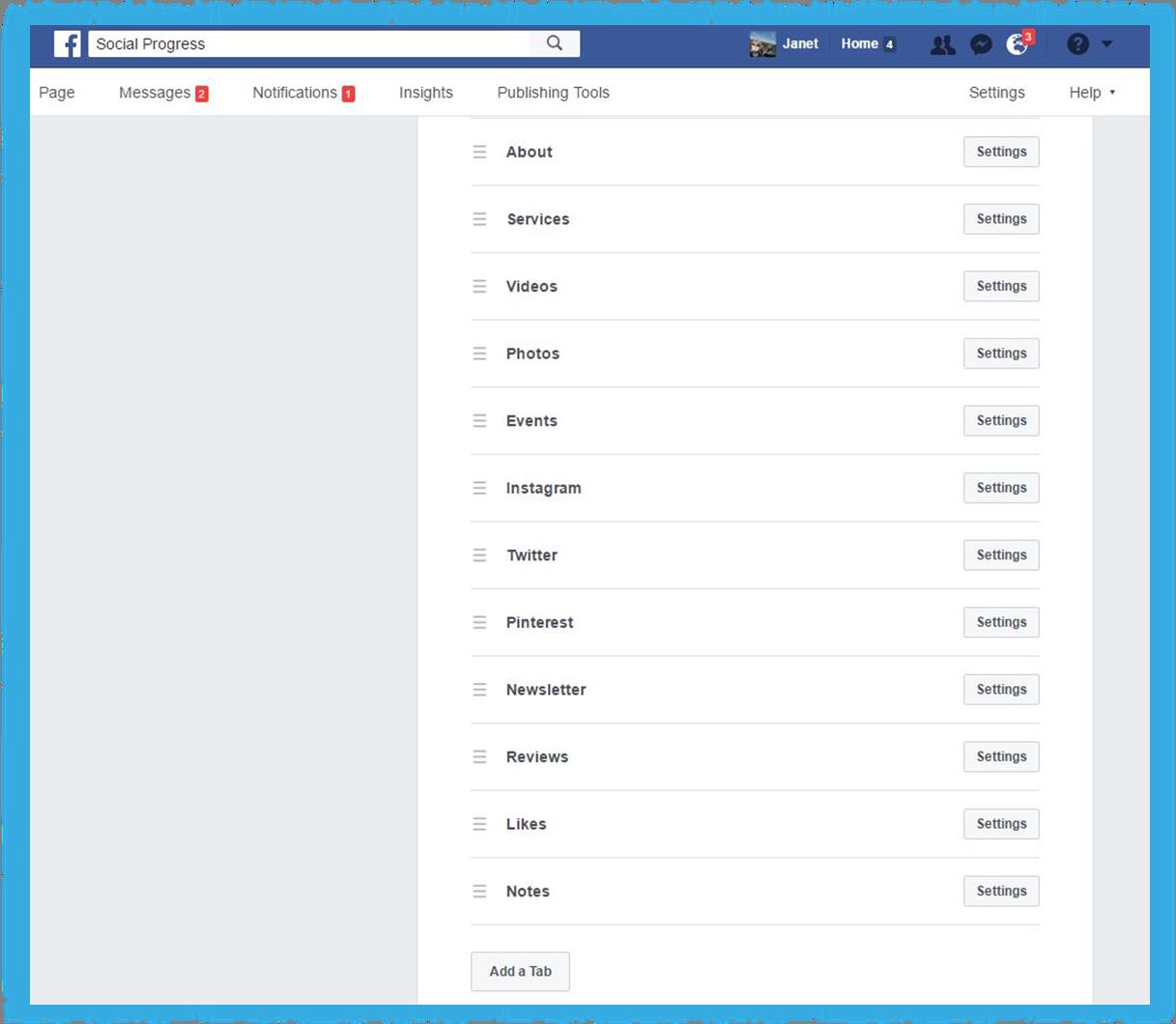 Facebook Face Tabs