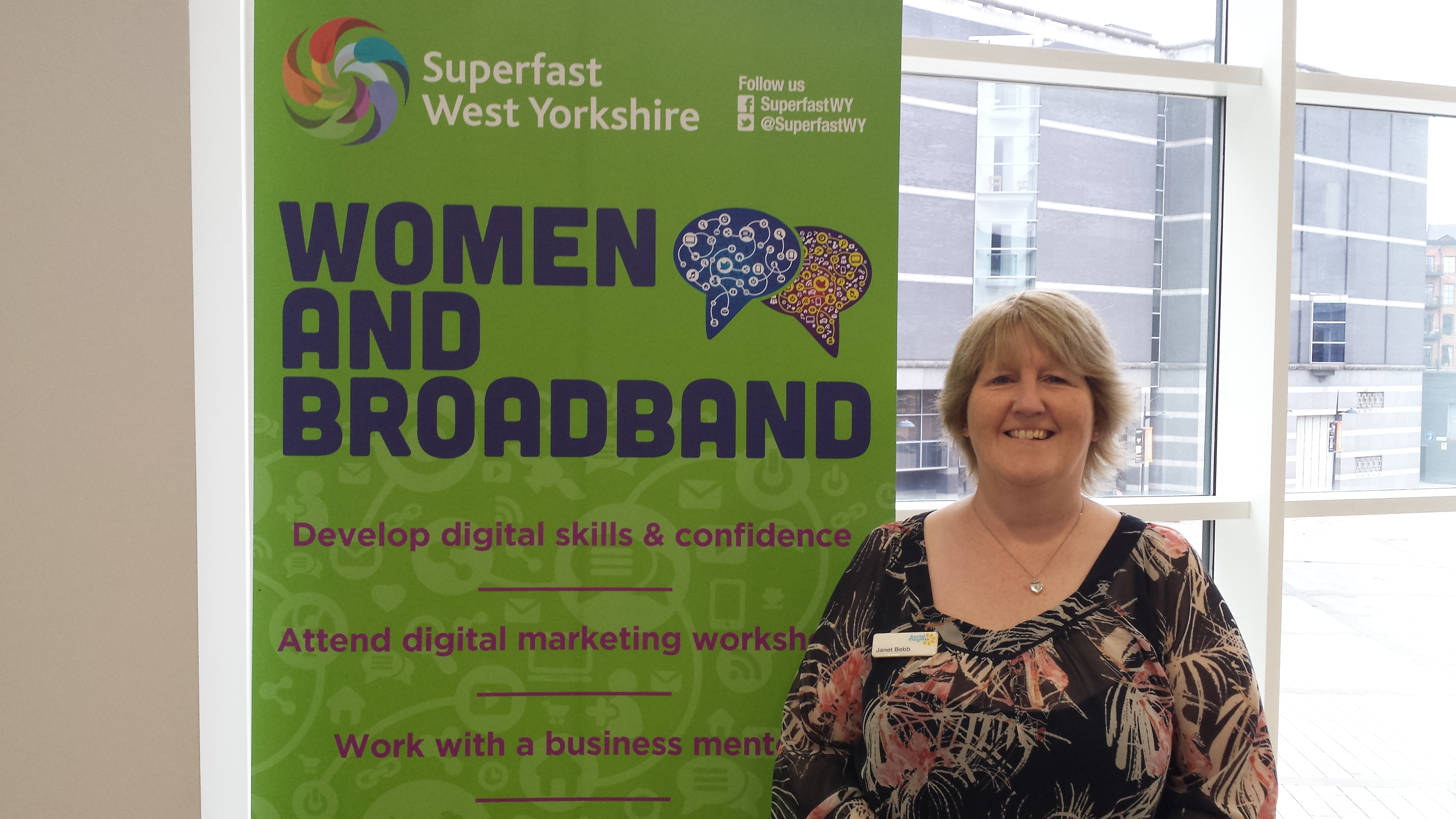 Janet Bebb from Social Progress - Mentor for Ladies That Launch - Women and Broadband - Google Garage Leeds
