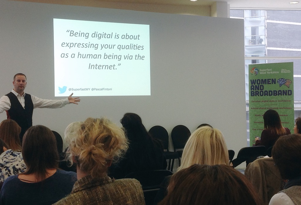 Pascal Fintoni presenting at the Ladies That Launch event