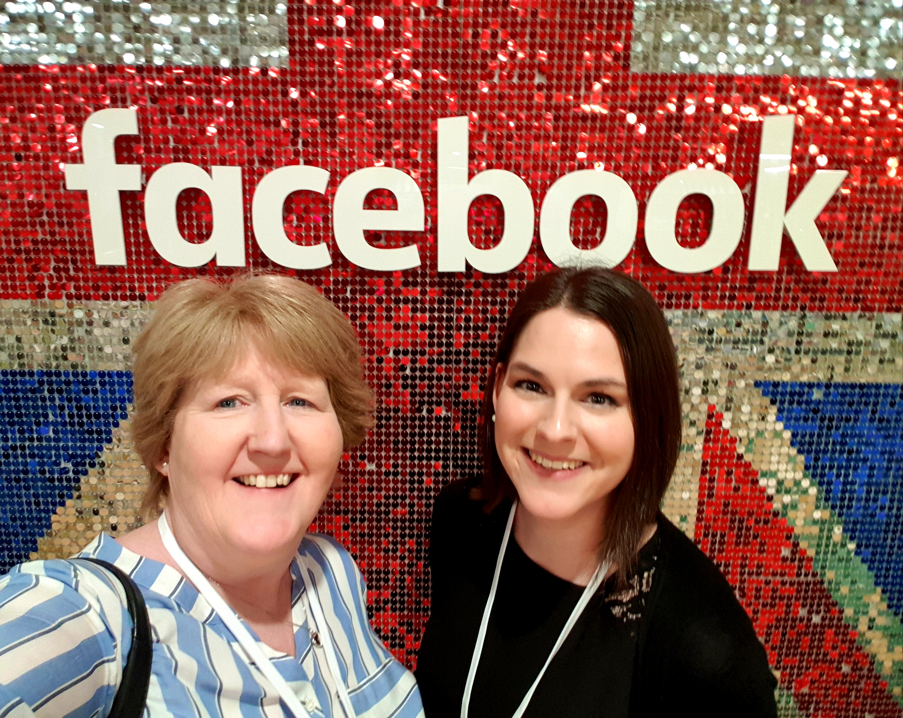 Janet Bebb and Esther Orridge from Social Progress Ltd - Facebook She Means Business - Train the Trainer Event 2019