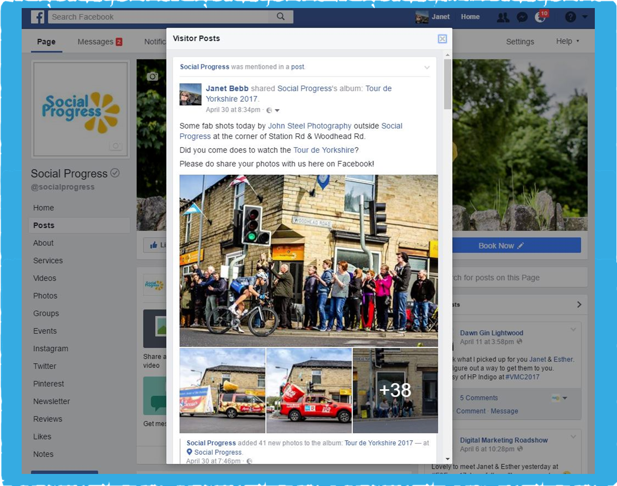 Facebook Page Visitor Posts Pop Up