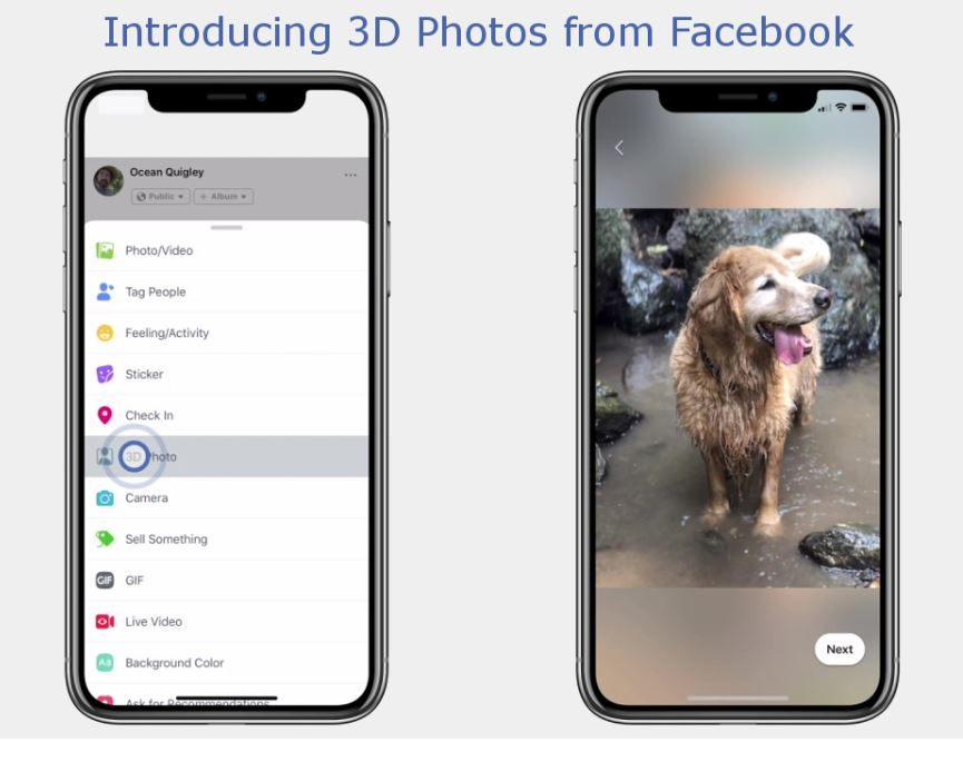 3D Photos in Facebook