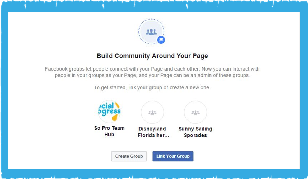 Facebook Page - Creating a Group