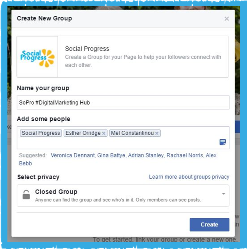 Facebook Group - SoPro DigitalMarketing Hub
