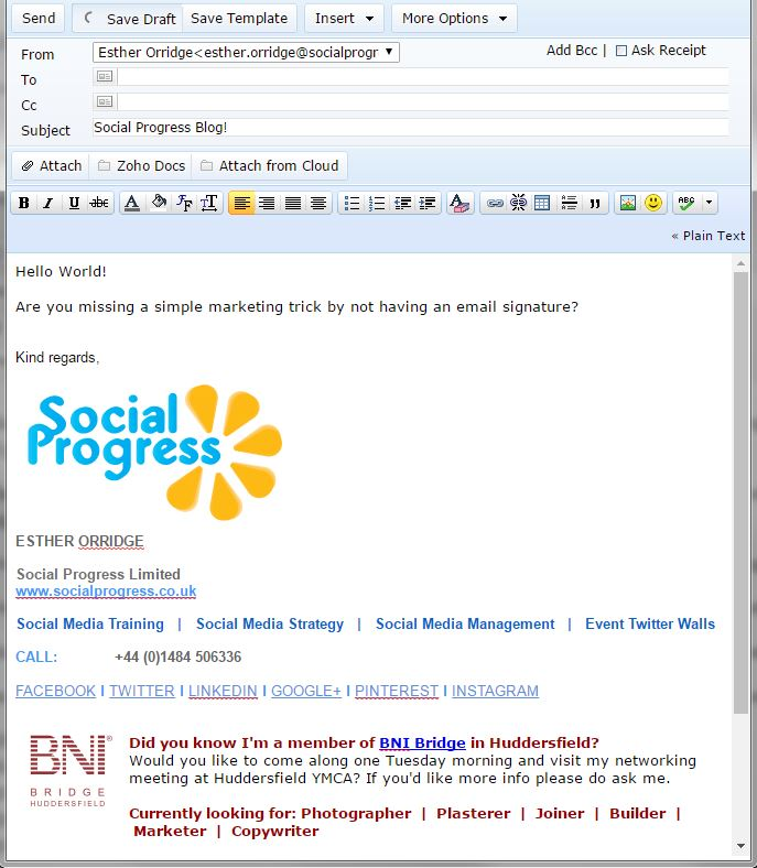 Social Progress Ltd - Email Signatures - Digital Marketing Tips