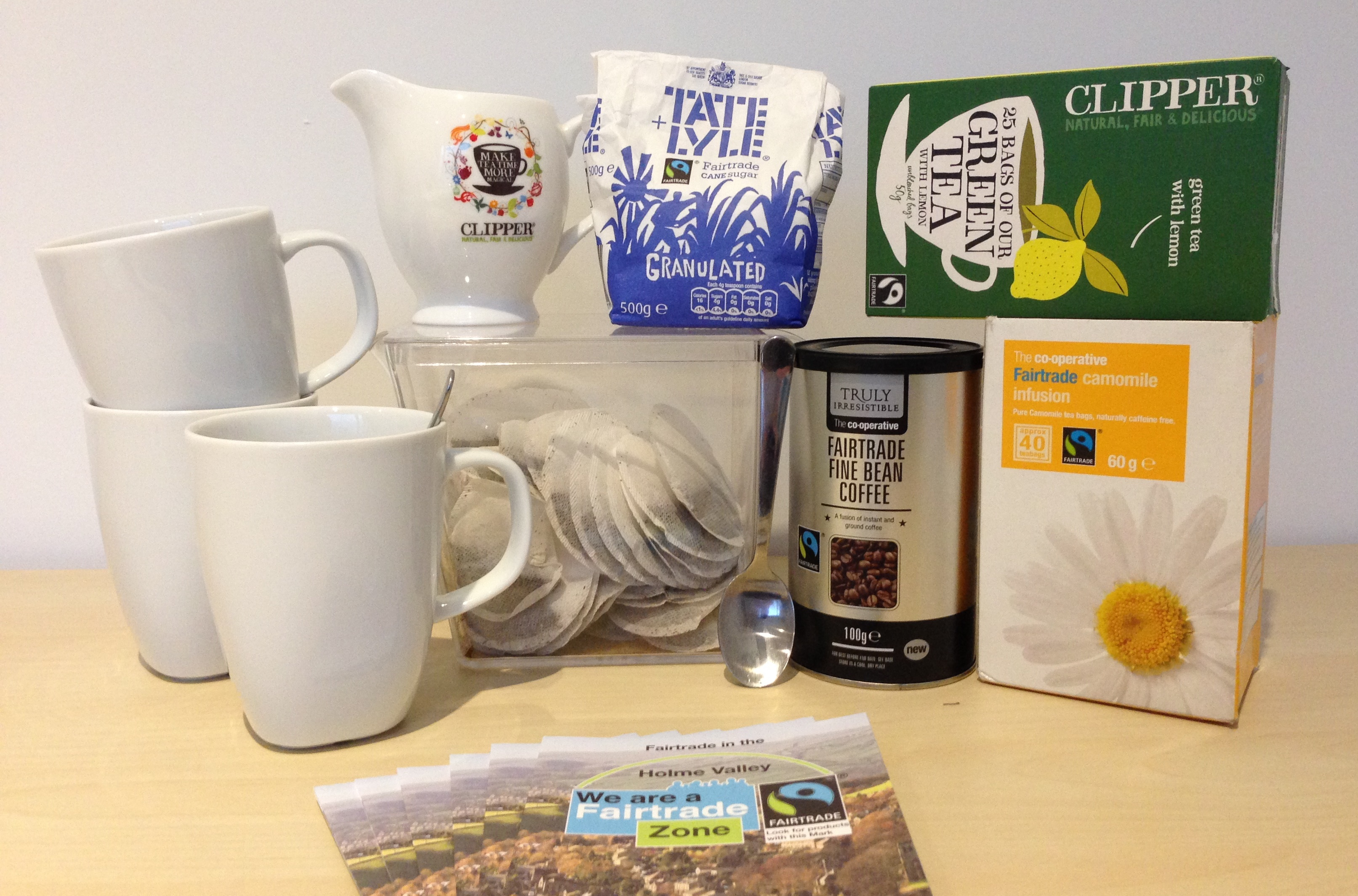 We provide Fairtrade tea, coffee and sugar at all our events