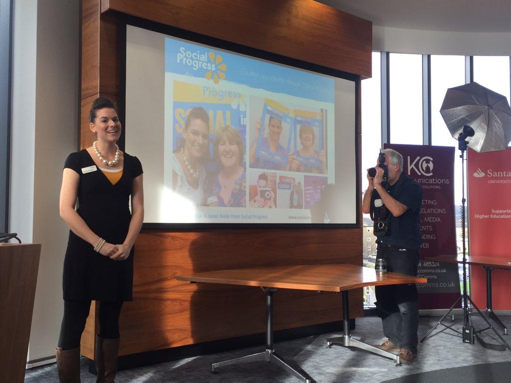 Santander Internship Programme - University of Huddersfield - Social Progress - Esther Orridge Presenting - Intern