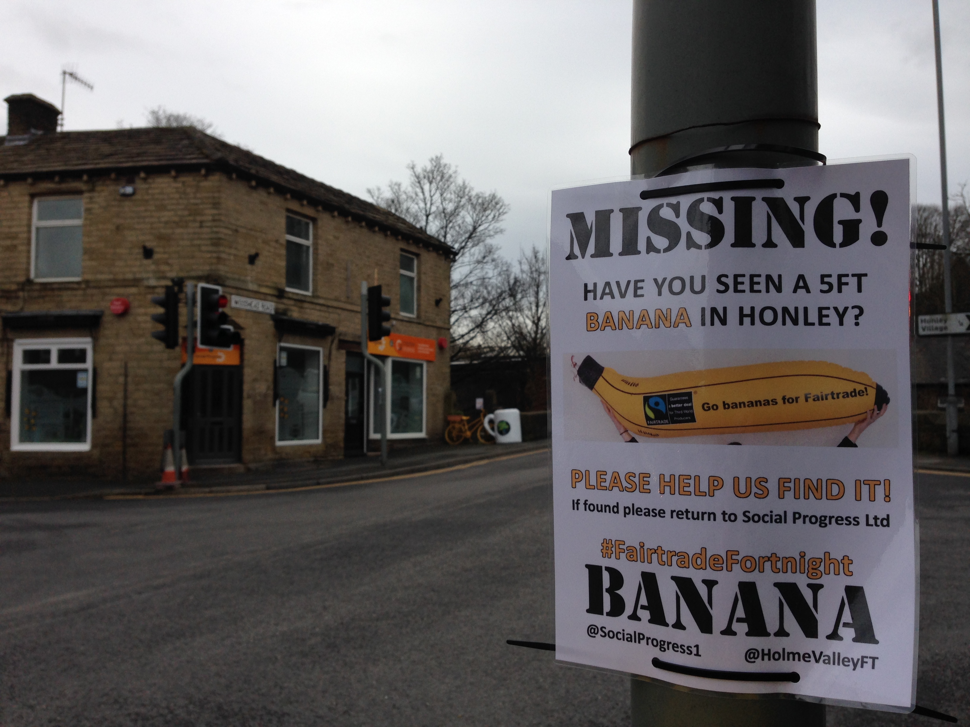 Fairtrade Fortnight 2015 - Missing Banana Campaign - Holme Valley Fairtrade