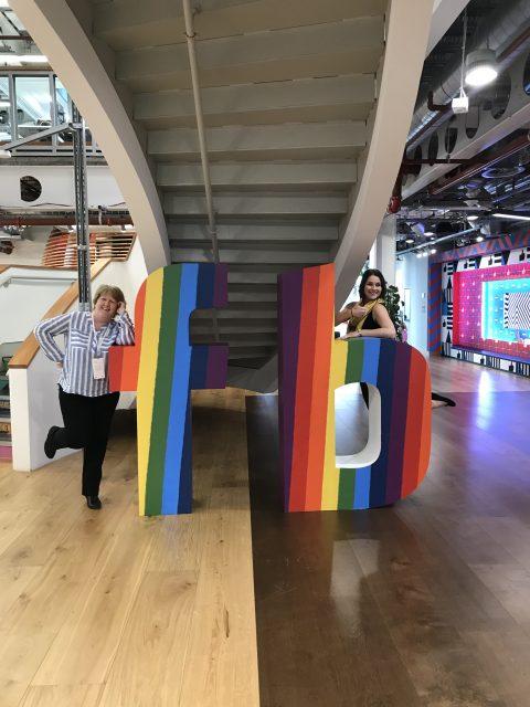 Janet Bebb and Esther Orridge from Social Progress Ltd - Facebook She Means Business - Train the Trainer Event 2019 - Facebook Partner Centre, London