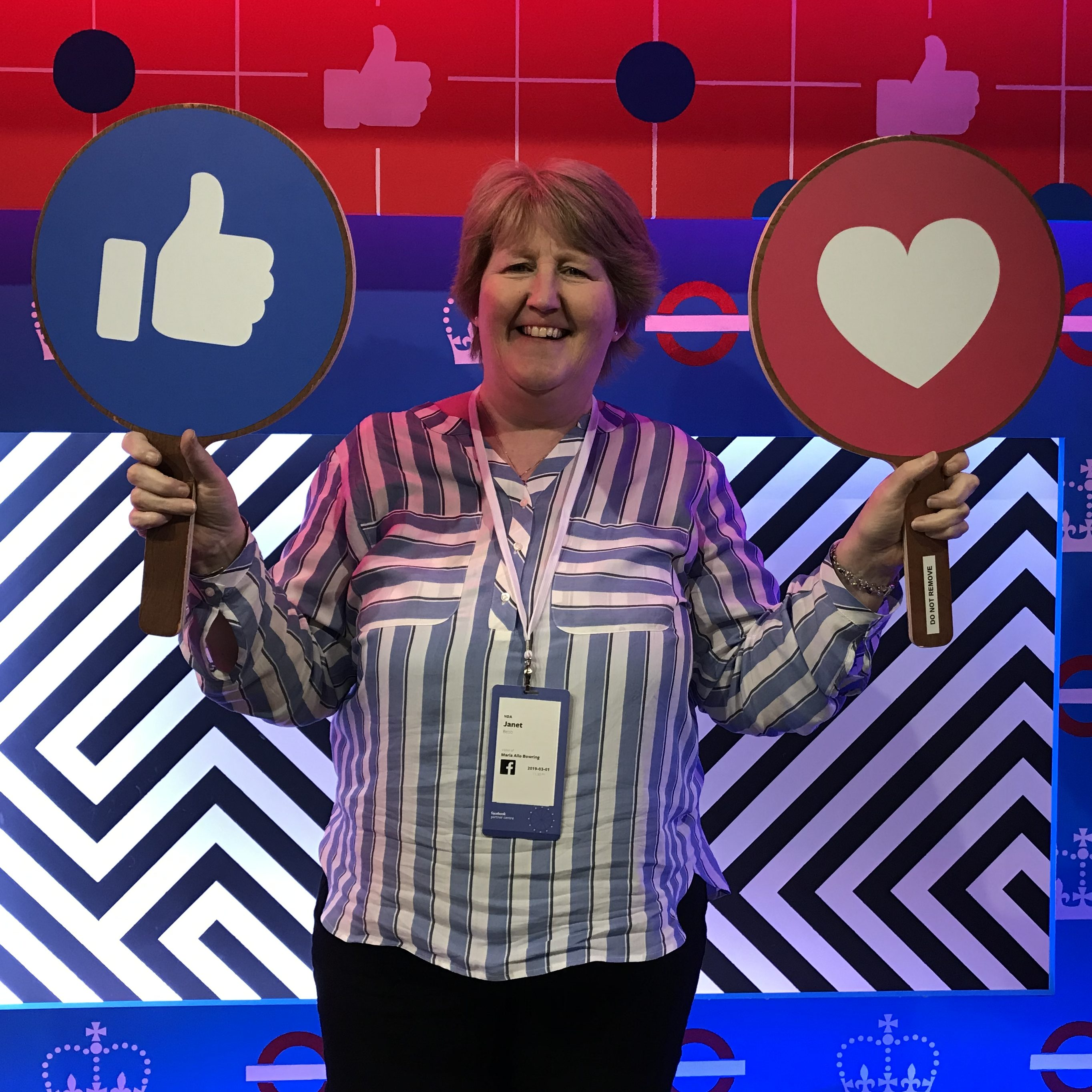 Janet Bebb from Social Progress Ltd - Facebook She Means Business - Train the Trainer Event 2019