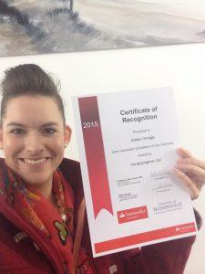 Santander Internship Programme - University of Huddersfield - Social Progress - Esther Orridge
