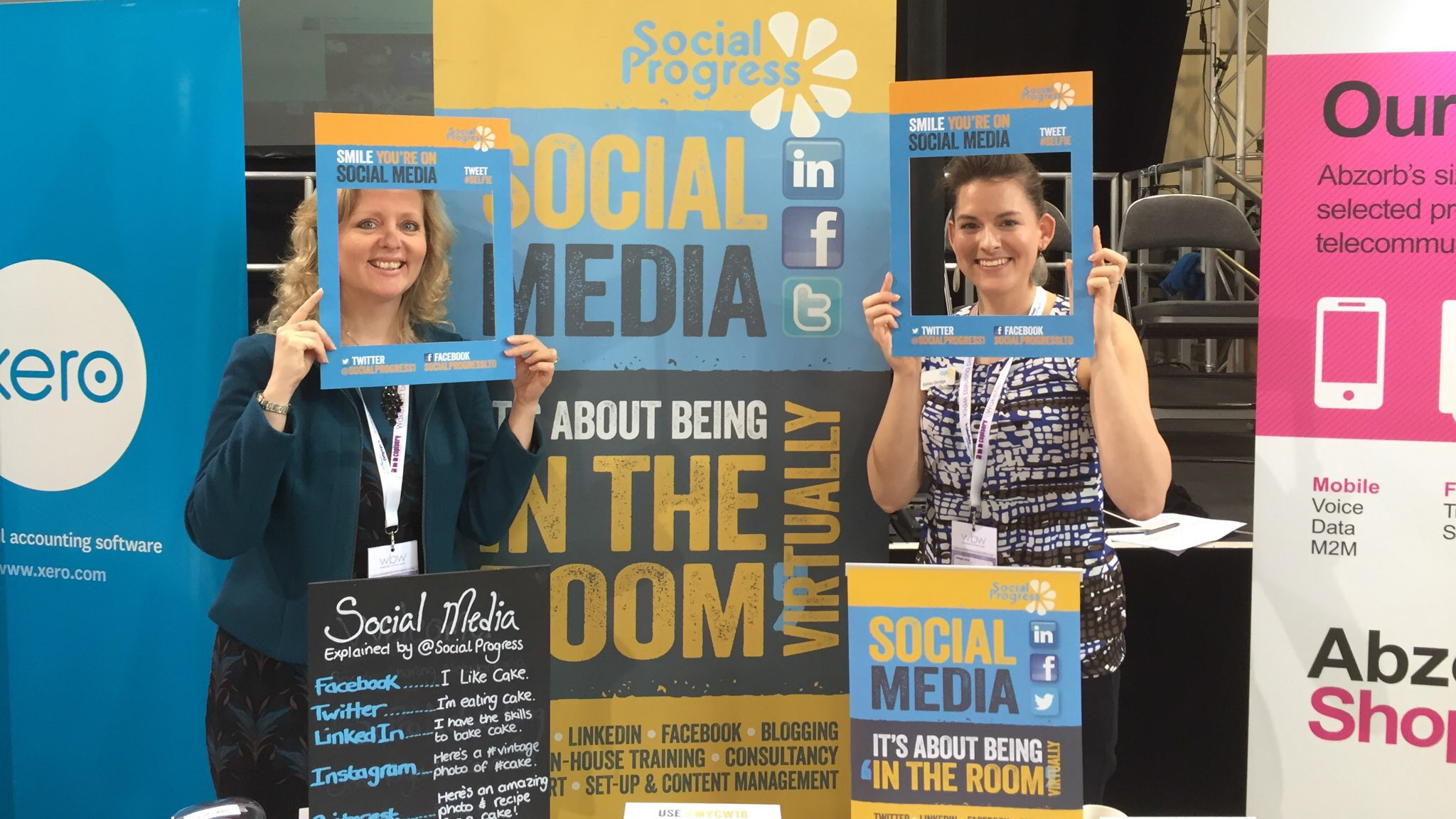 Social Progress Ltd - Wakefield Business Conference 2016 - Twitter Wall and Social Media