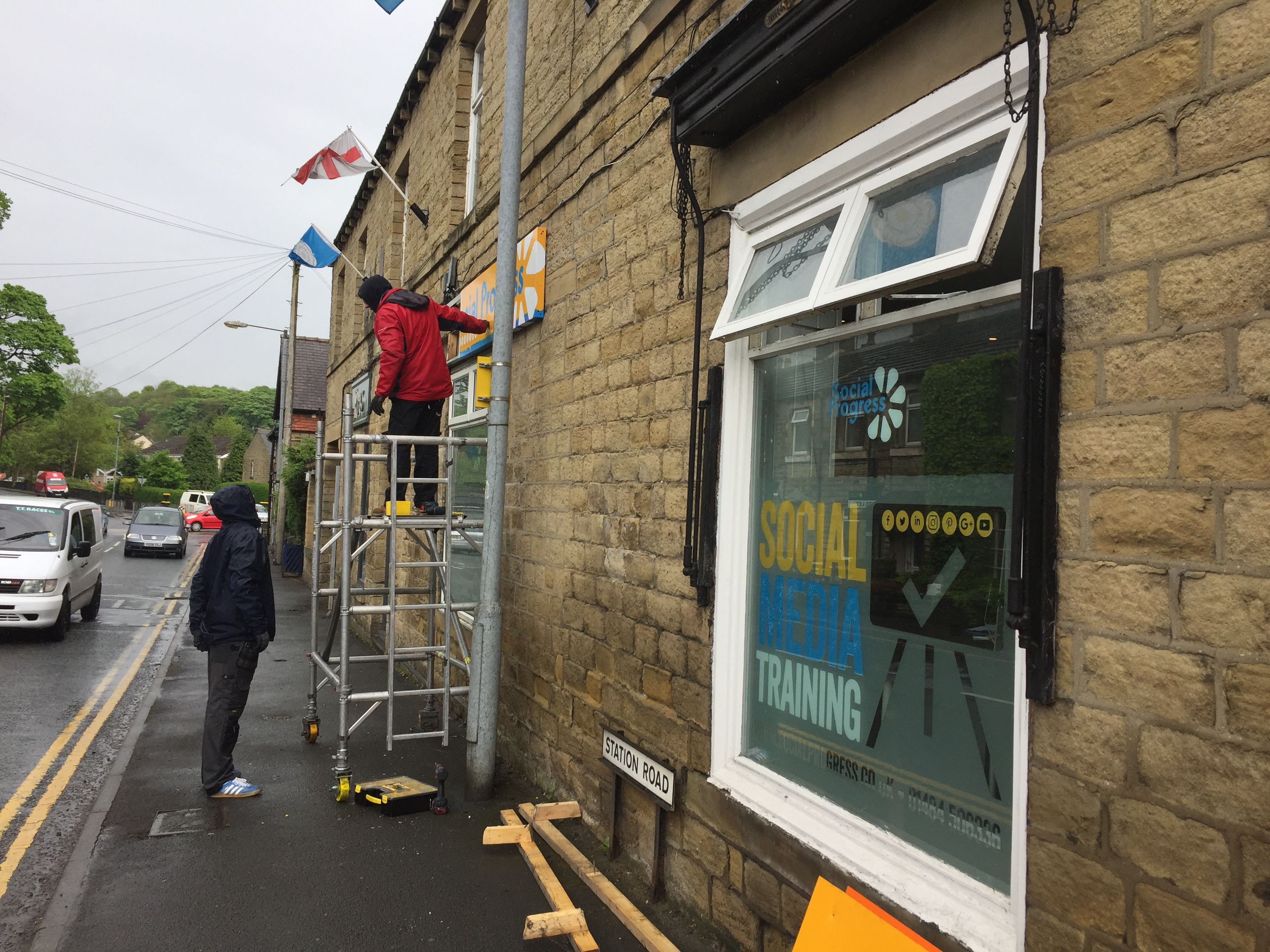 Social Progres Ltd - Honley, Huddersfield - New Signage