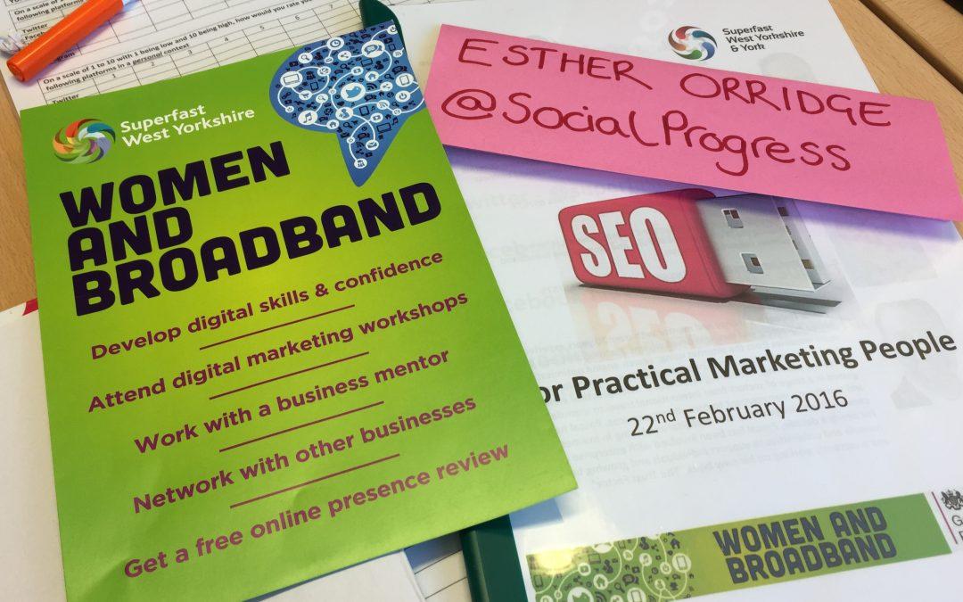 SEO Masterclass – Women and Broadband