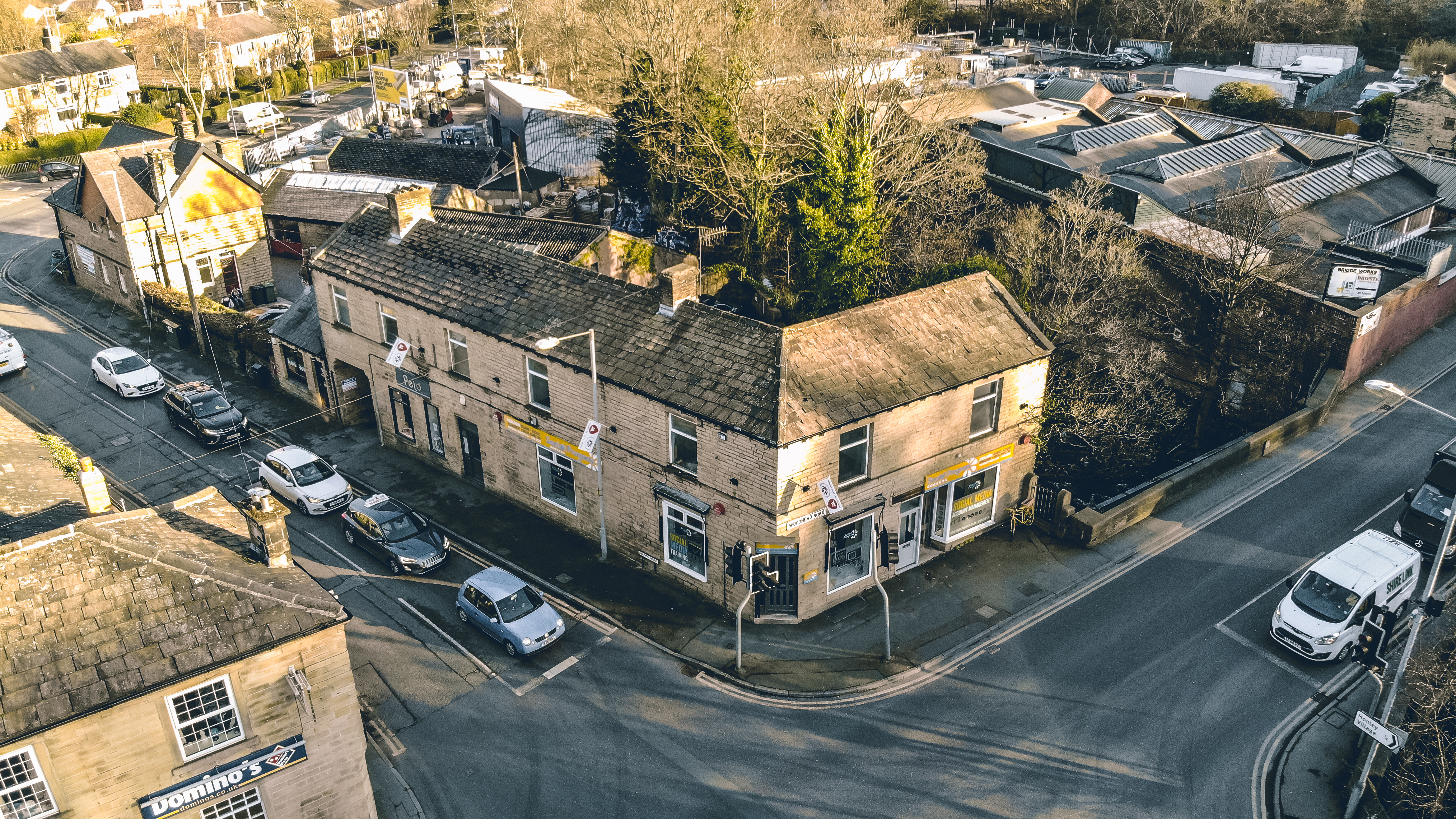 The Social Progress office from a drone