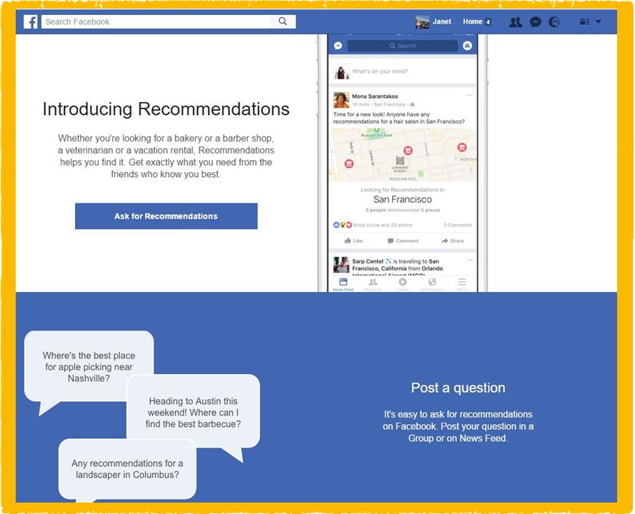 How to do Facebook Recommendations - Social Progress Ltd - SoPro Blog
