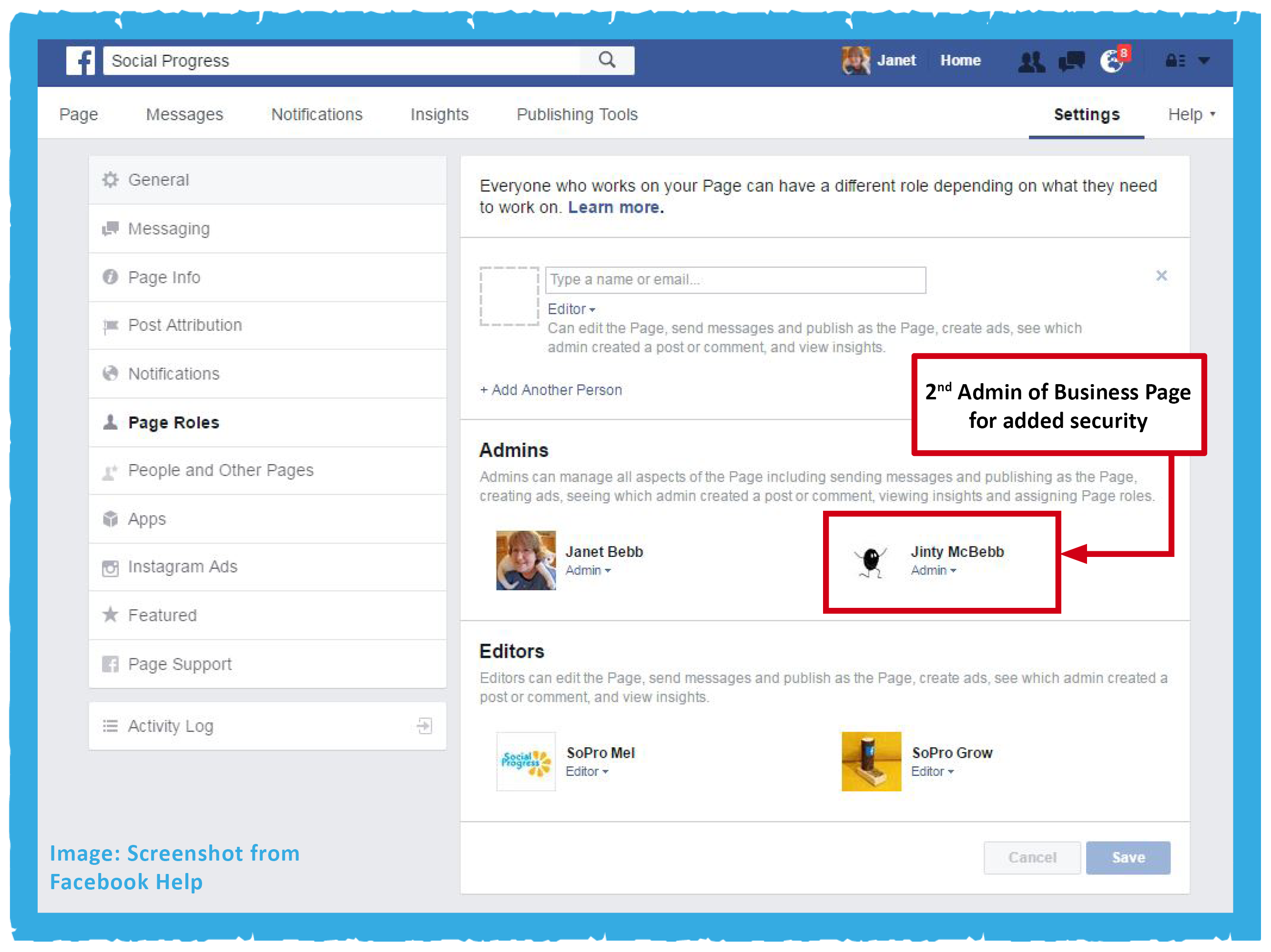 Social Progress - SoPro Blog - The Importance of Two Facebook Admins