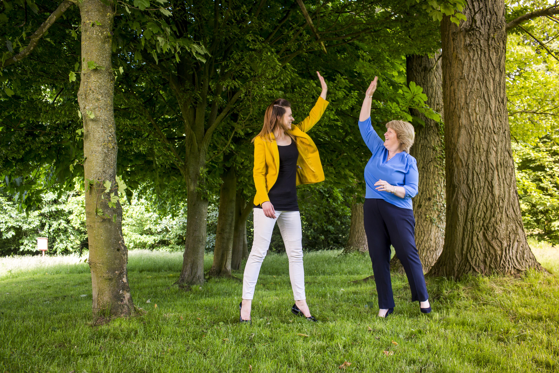Social Progress Ltd - Janet Bebb and Esther Orridge - Photos by John Steel Photography - SoProHigh5!
