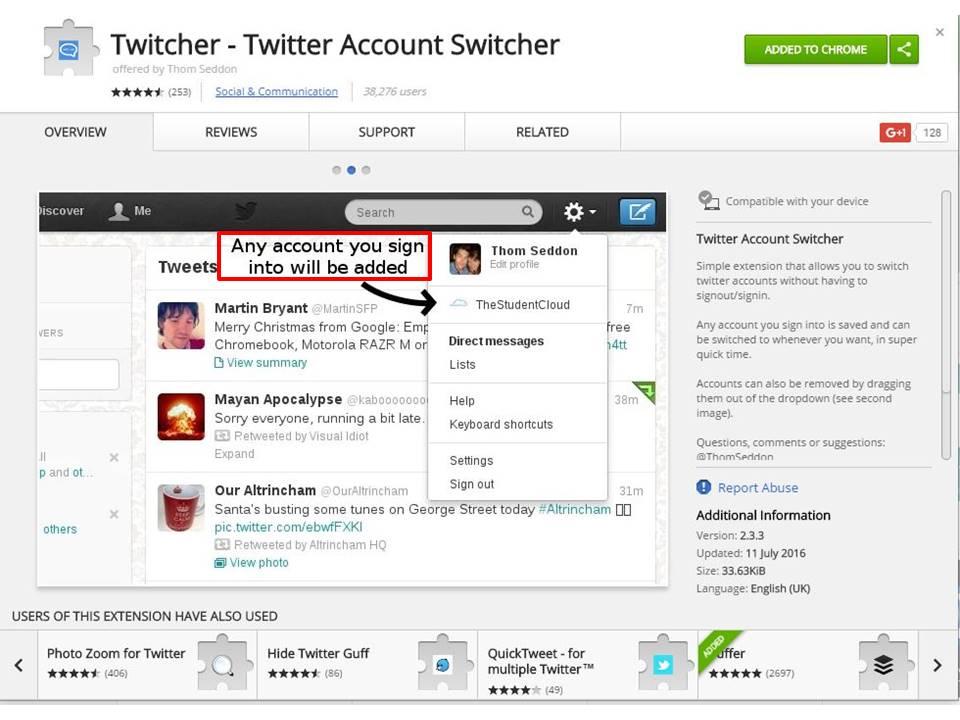 Twitcher Chrome Extension