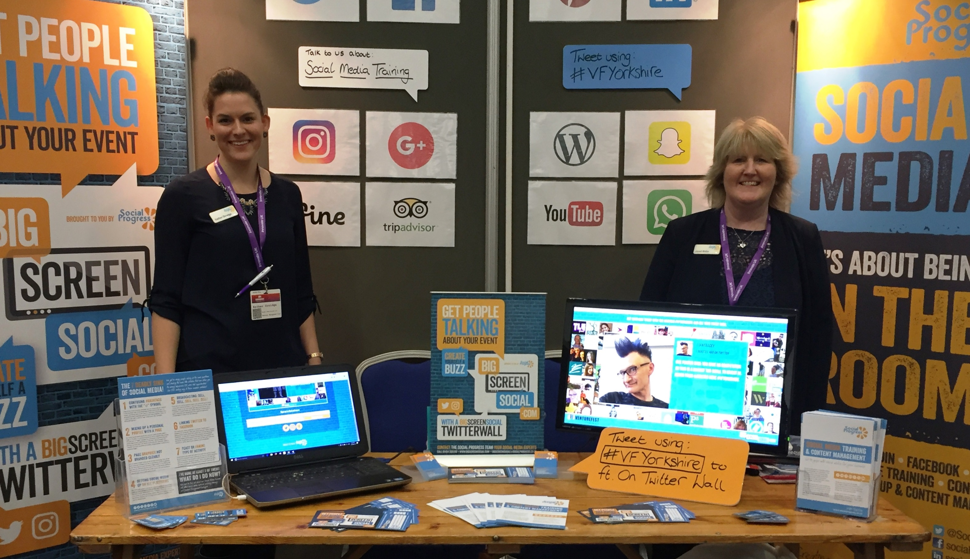 Social Progress Ltd - Venturefest Yorkshire 2016 - Big Screen Social - Social Media Training Yorkshire