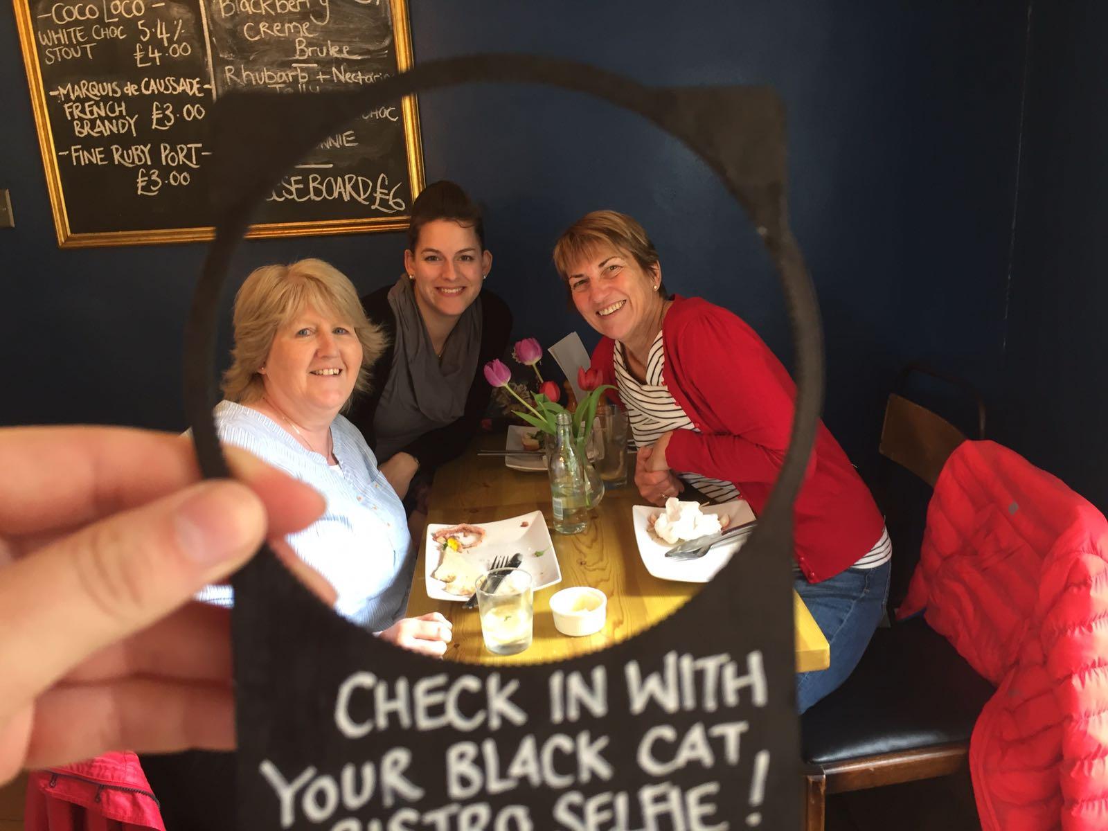 The Black Cat Bistro Selfie