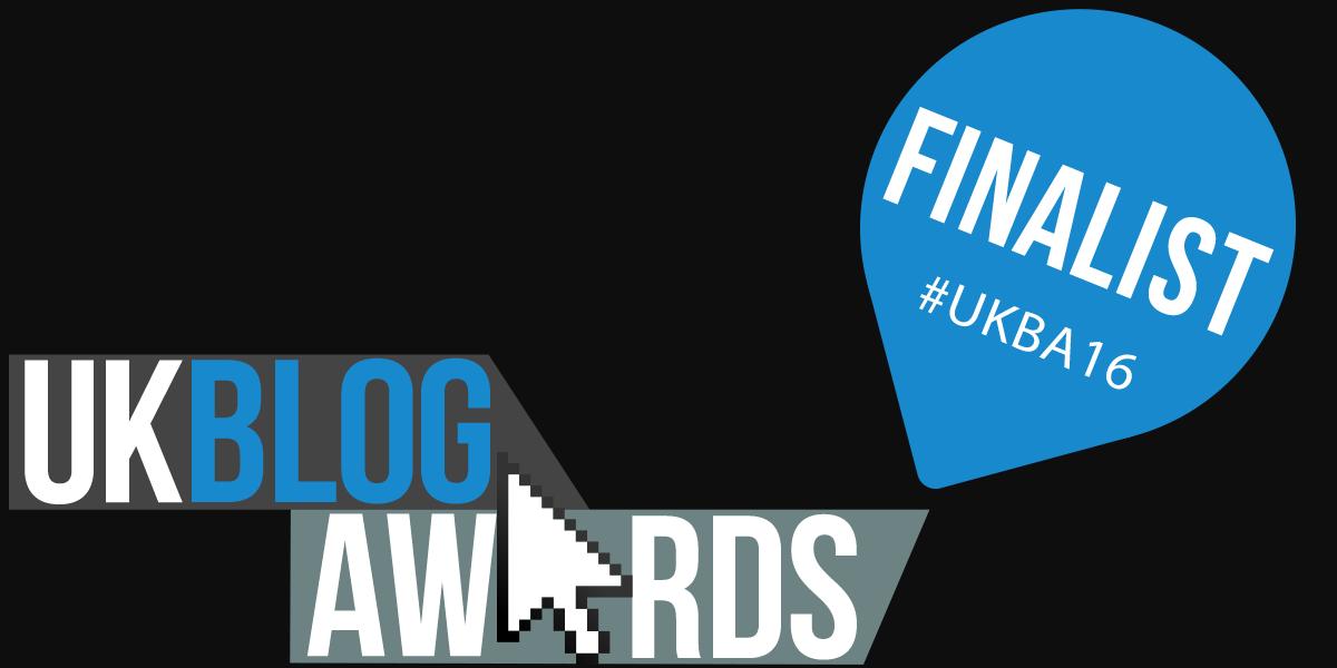 UK Blog Awards 2016 Finalist Banner