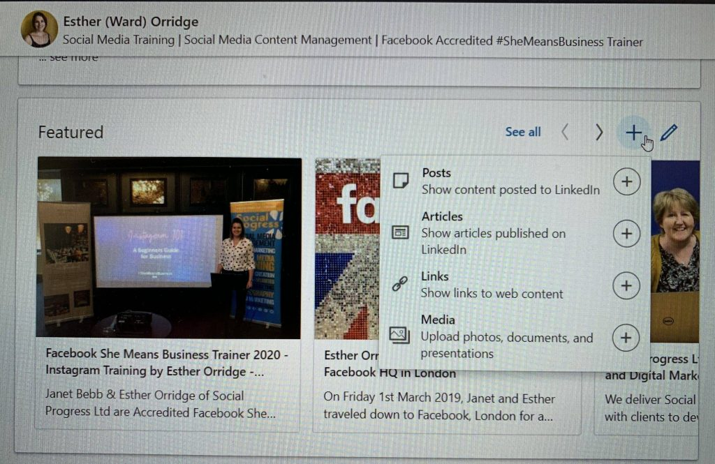 LinkedIn Featured Section - How to edit