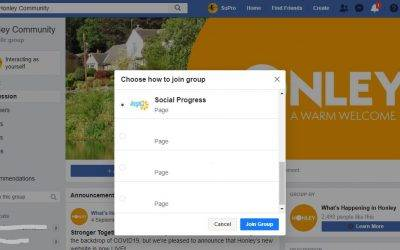 How to join a Facebook Group as a Page