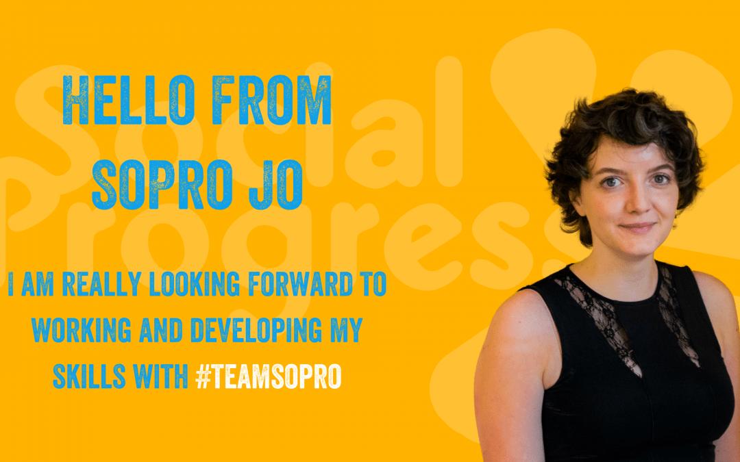 Hello from SoPro Jo!